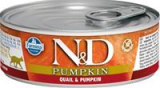 N&D PUMPKIN Cat konz. Adult Quail & Pumpkin 80 g