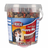 Soft Snack Happy MIX - kuře, jehněčí, losos, kyblík 500 g