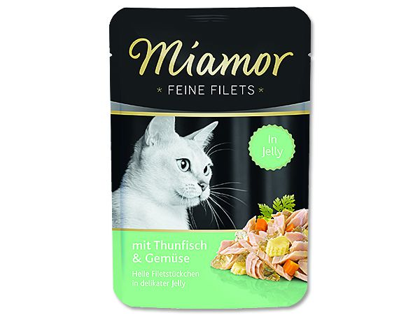 Miamor Cat Filet kapsa tuňák+zelen. 100g