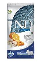 N&D OCEAN DOG LG Adult Mini Codfish & Orange 7kg + konzerva zdarma