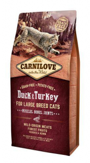 Carnilove Cat Adult Duck & Turkey Large B. Grain Free 6 kg