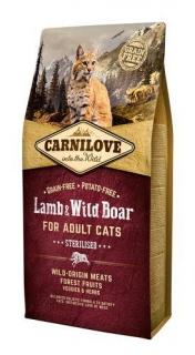Carnilove Cat Adult Lamb & Wild Boar Grain Free 0,4 kg