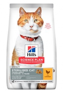 Hill's Feline Young Adult Sterilised Chicken 1,5 kg