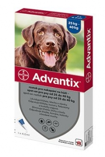 Advantix Spot On 1x4ml pro psy 25-40kg (1 pipeta)