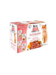 Brit Care Cat Fillets Gravy Flavour box 4x3ks(12x85g)