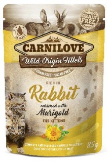 Carnilove Cat Pouch Kitten RabbitEnriched&Marigold 85g