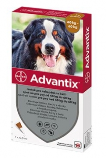 Advantix Spot On 1x6ml pro psy 40-60kg (1 pipeta)