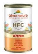 Almo Nature cat konz. Kitten kuře 140g