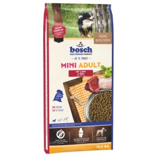 BOSCH DOG ADULT MINI – jehněčí & rýže 3kg